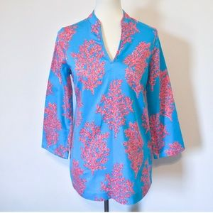 Lilly Pulitzer Coral Cotton Tunic Top
